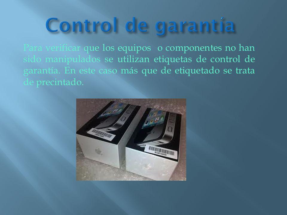Control de garantía