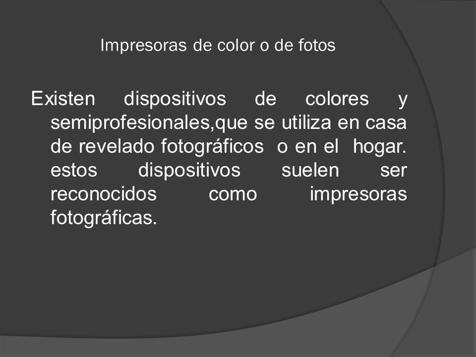 Impresoras de color o de fotos