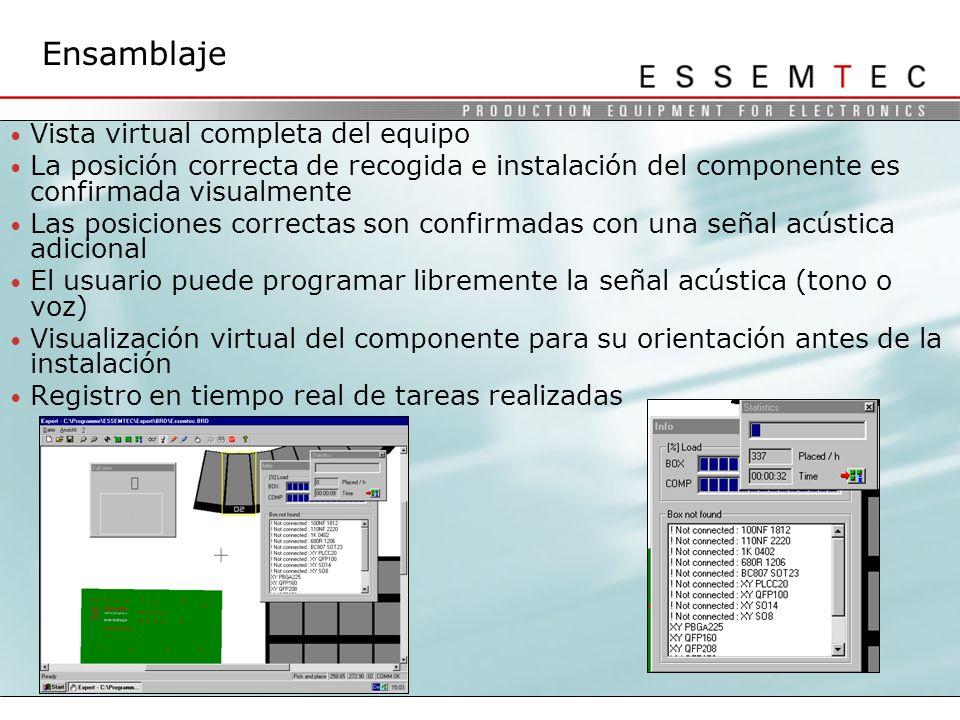 Ensamblaje Vista virtual completa del equipo