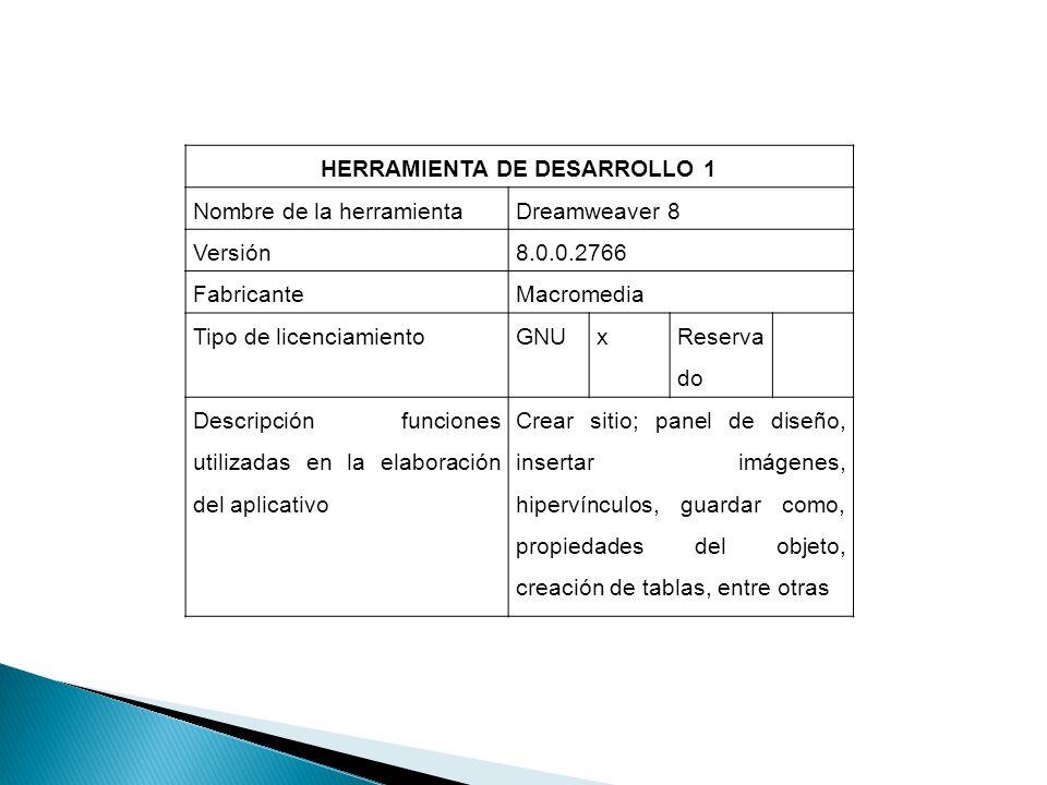 HERRAMIENTA DE DESARROLLO 1