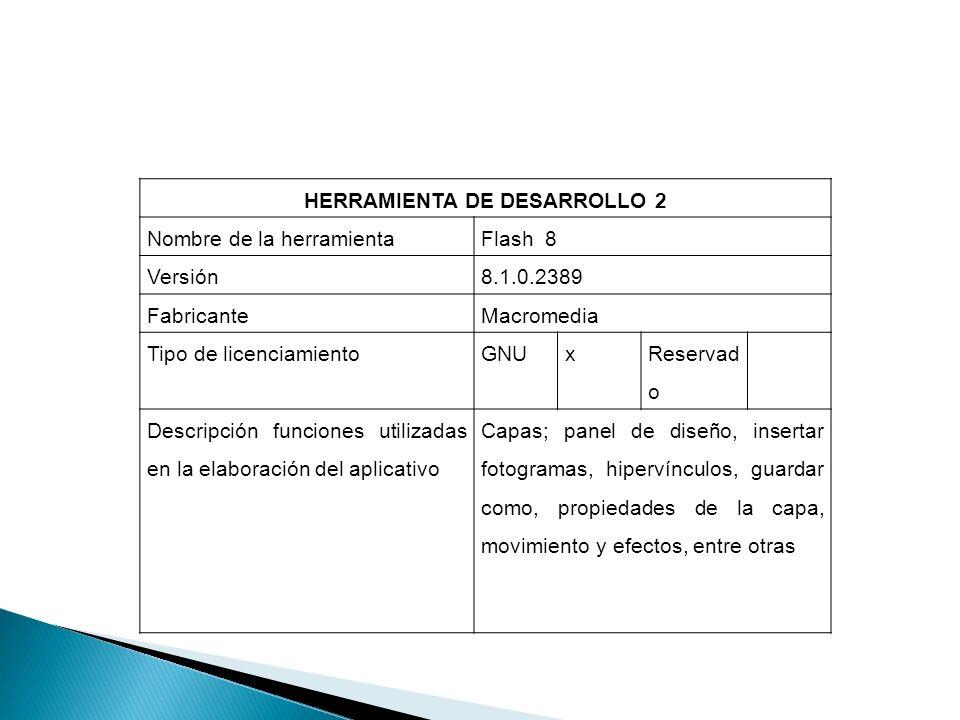 HERRAMIENTA DE DESARROLLO 2