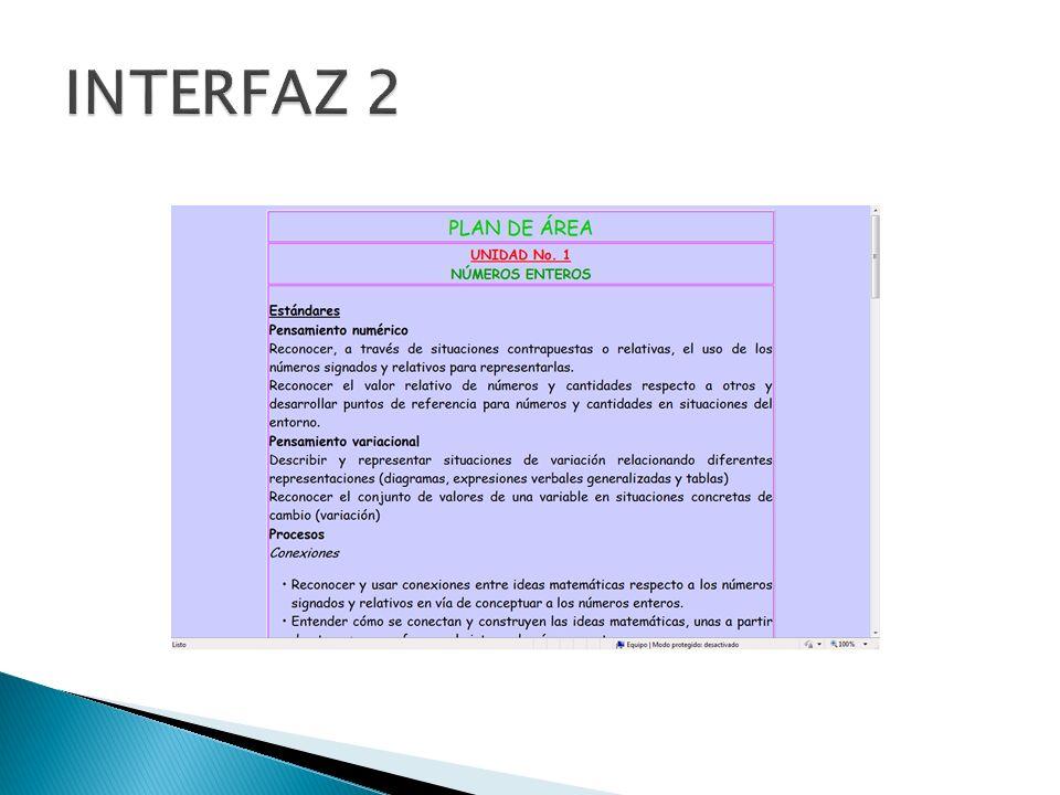 INTERFAZ 2