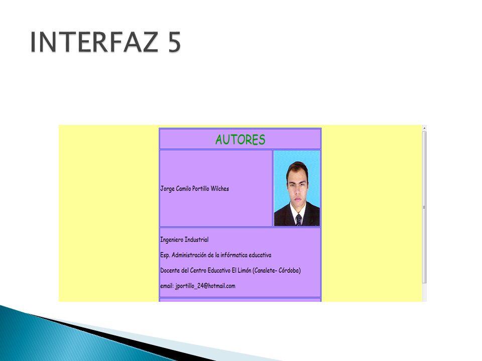 INTERFAZ 5