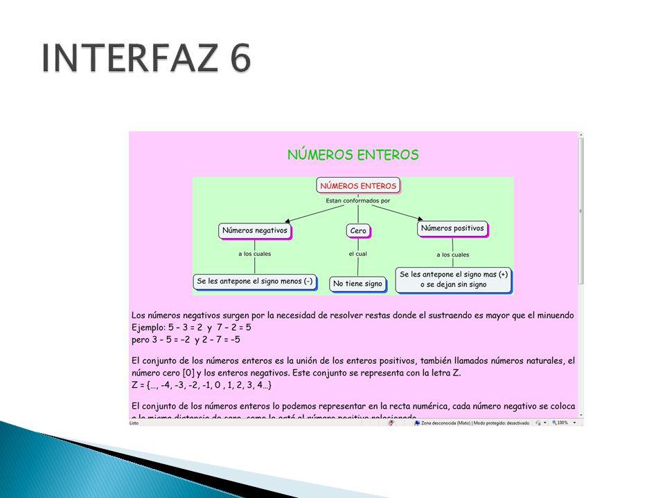 INTERFAZ 6