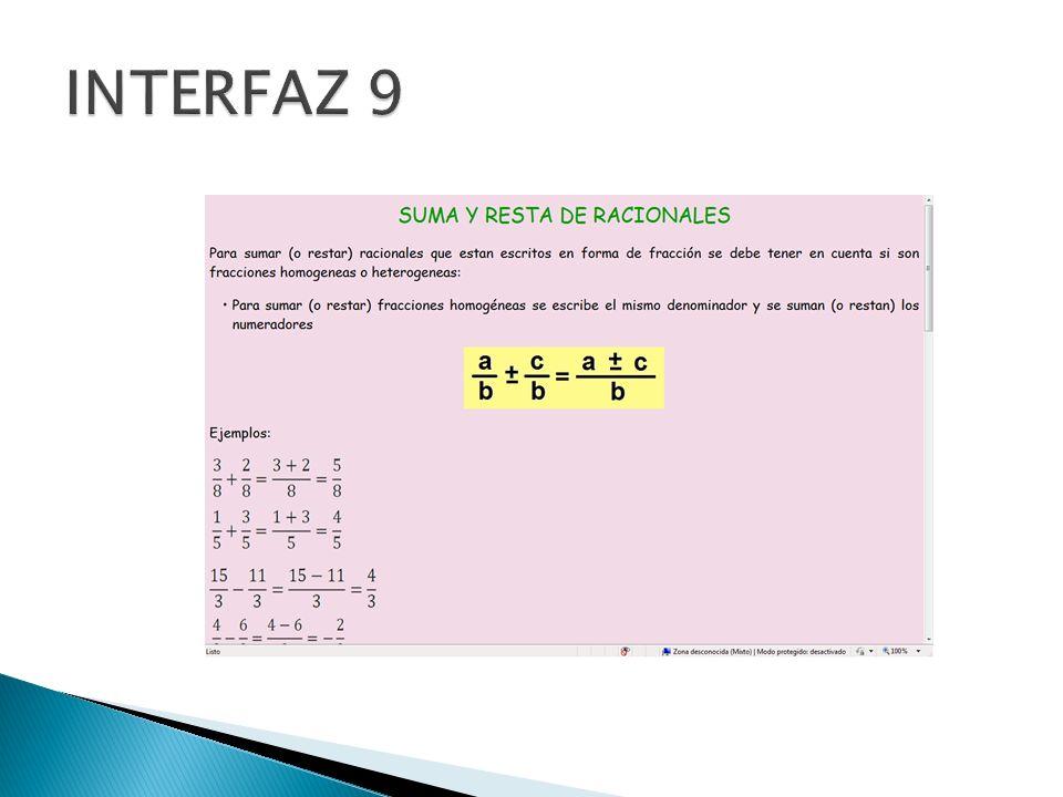 INTERFAZ 9
