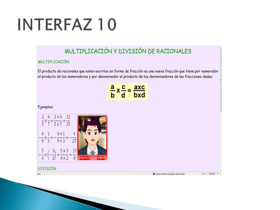 INTERFAZ 10