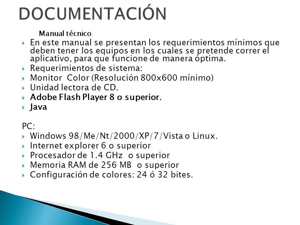 DOCUMENTACIÓN Manual técnico.