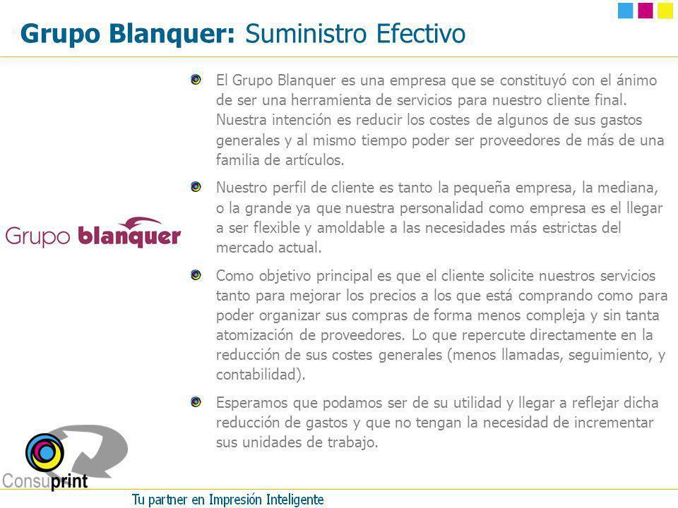 Grupo Blanquer: Suministro Efectivo