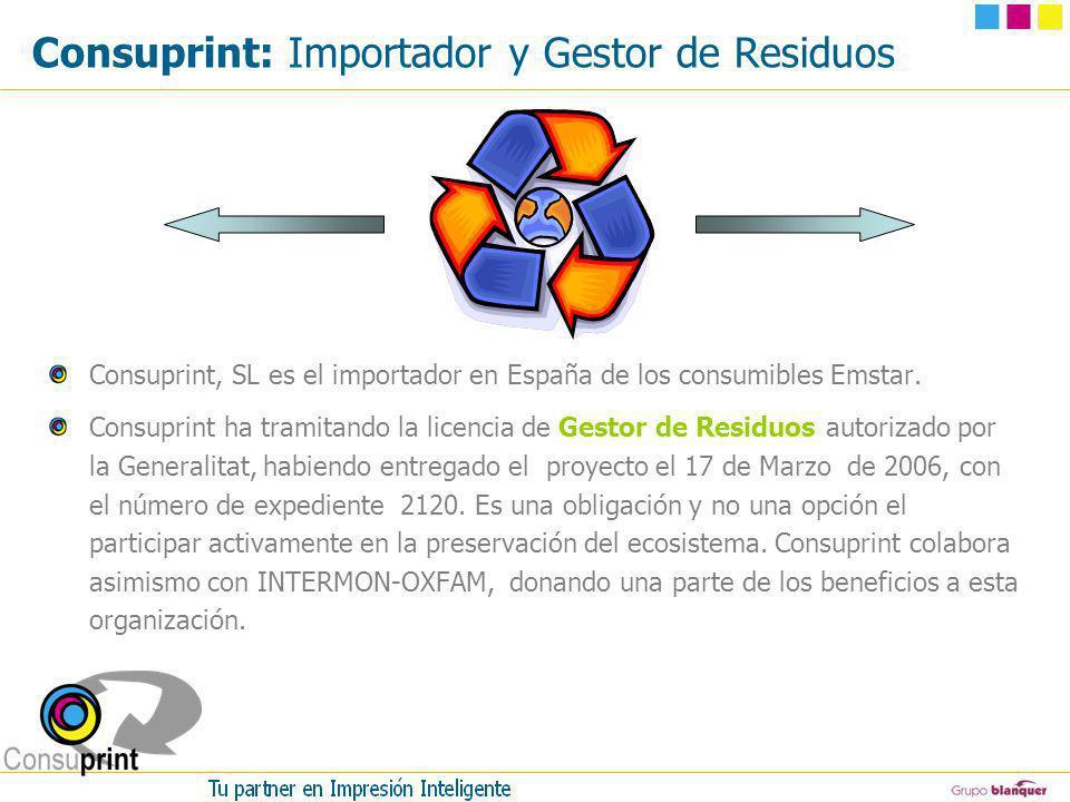Consuprint: Importador y Gestor de Residuos