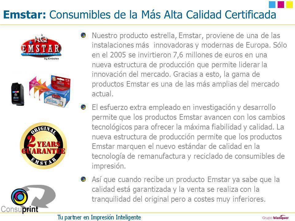 Emstar: Consumibles de la Más Alta Calidad Certificada