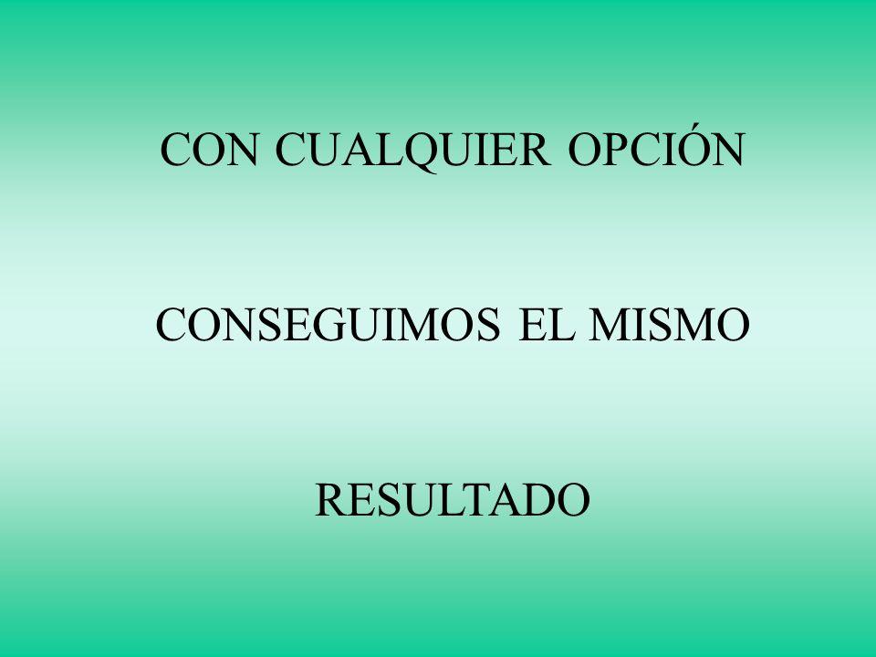 CON CUALQUIER OPCIÓN CONSEGUIMOS EL MISMO RESULTADO