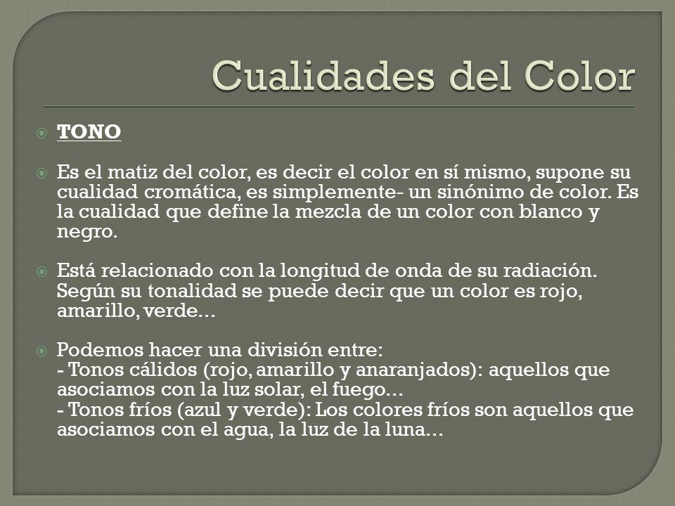 Cualidades del Color TONO