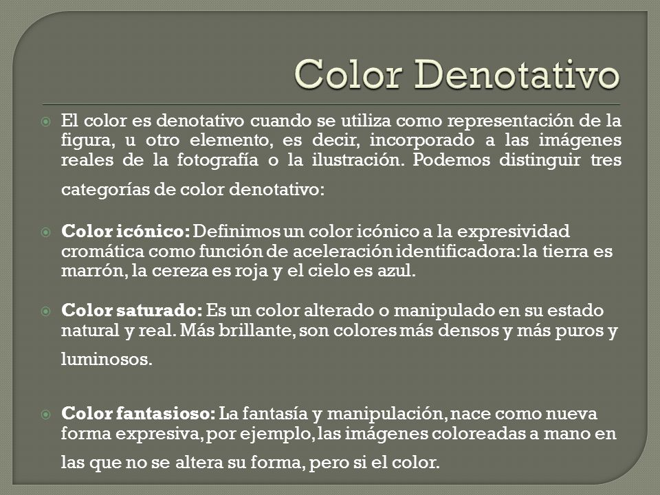 Color Denotativo