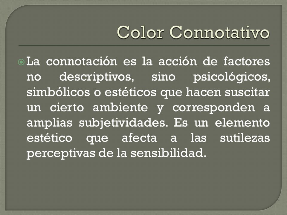 Color Connotativo