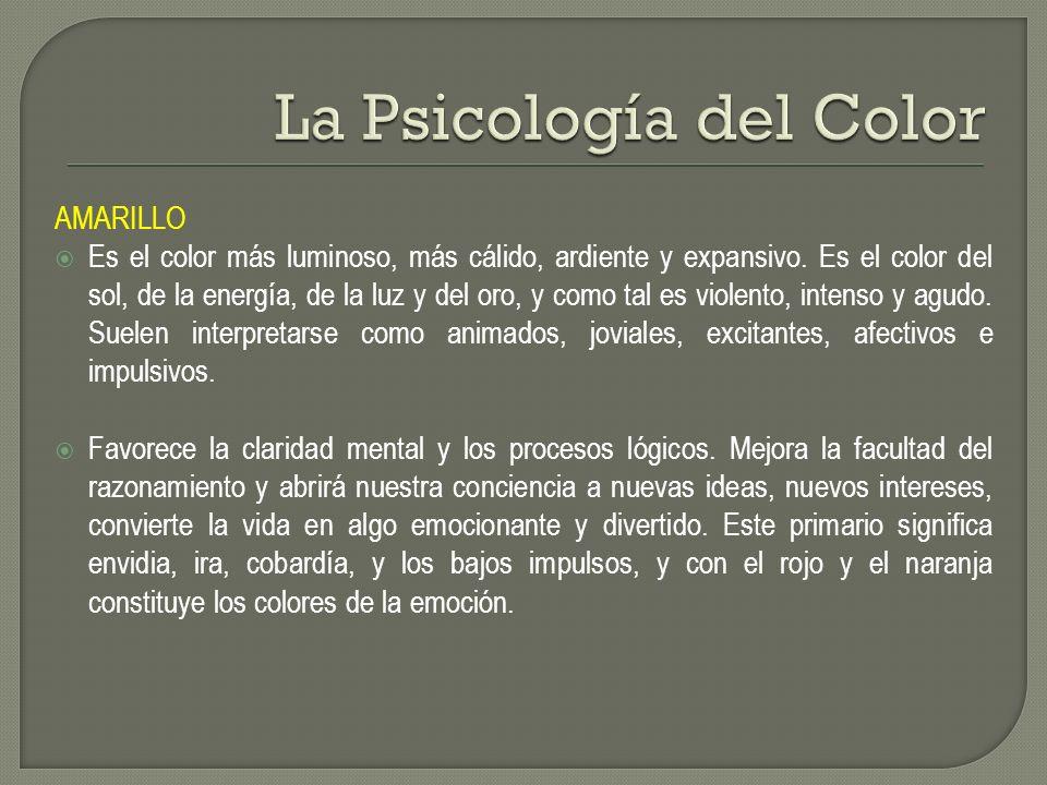 La Psicología del Color