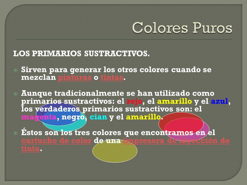 Colores Puros LOS PRIMARIOS SUSTRACTIVOS.