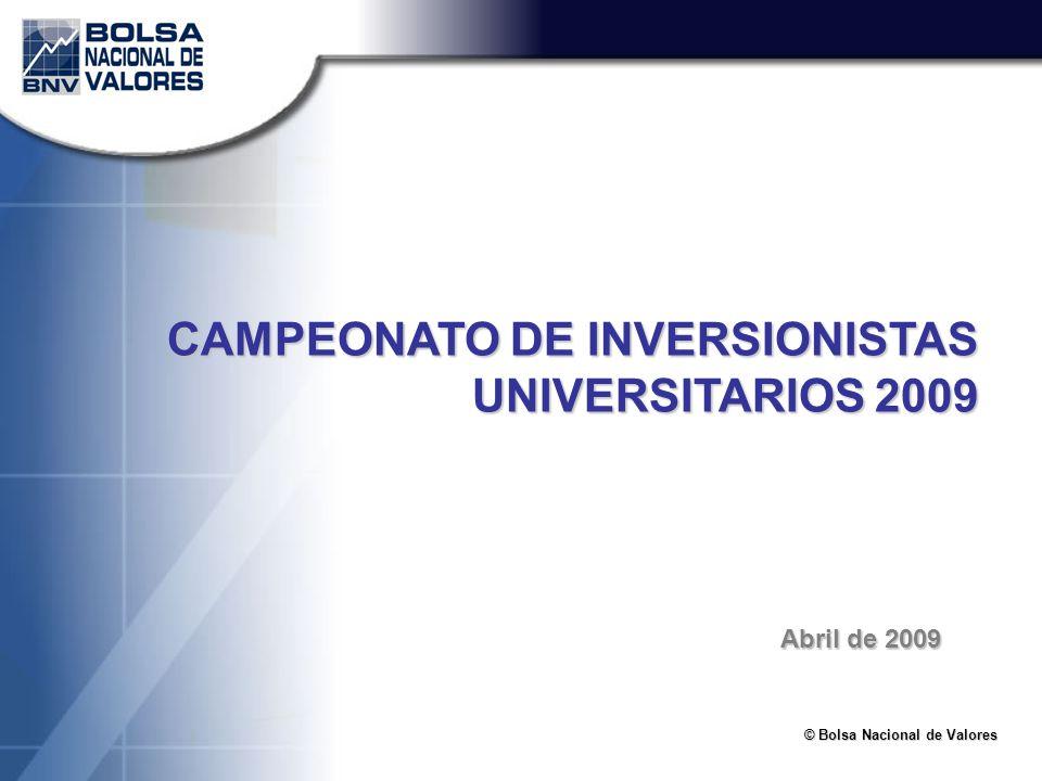 CAMPEONATO DE INVERSIONISTAS UNIVERSITARIOS 2009