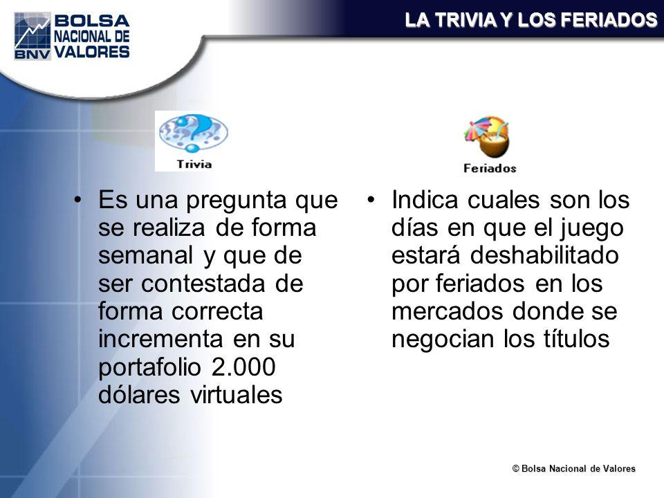 LA TRIVIA Y LOS FERIADOS