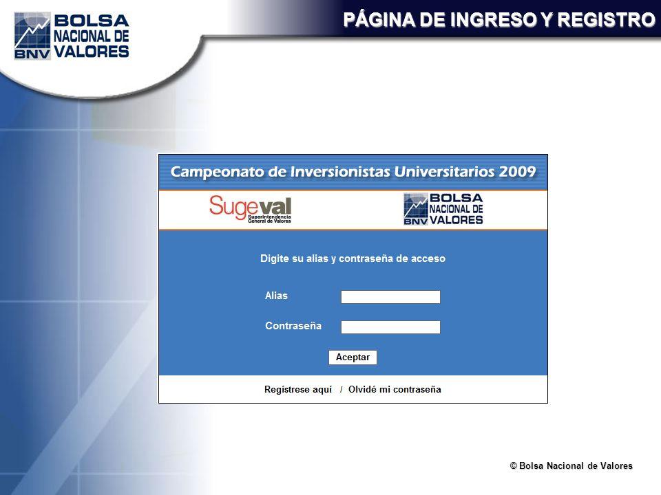 PÁGINA DE INGRESO Y REGISTRO
