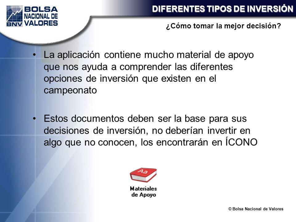 DIFERENTES TIPOS DE INVERSIÓN