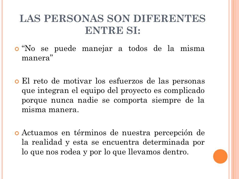 LAS PERSONAS SON DIFERENTES ENTRE SI: