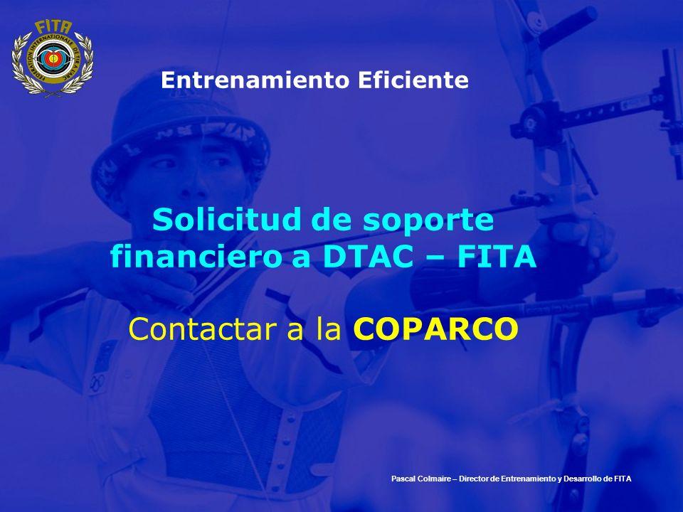 Solicitud de soporte financiero a DTAC – FITA