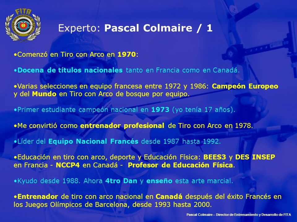 Experto: Pascal Colmaire / 1