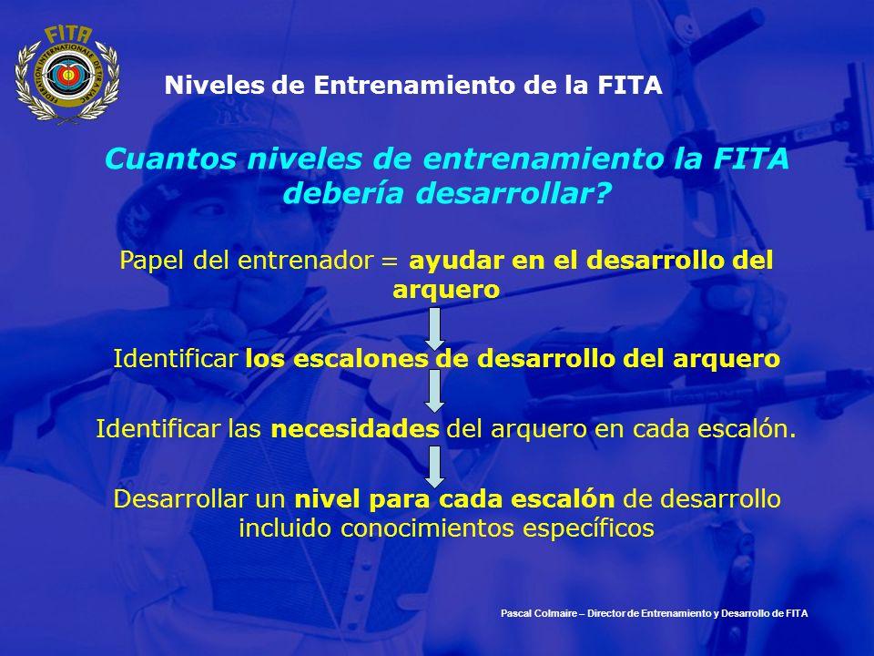 Cuantos niveles de entrenamiento la FITA debería desarrollar