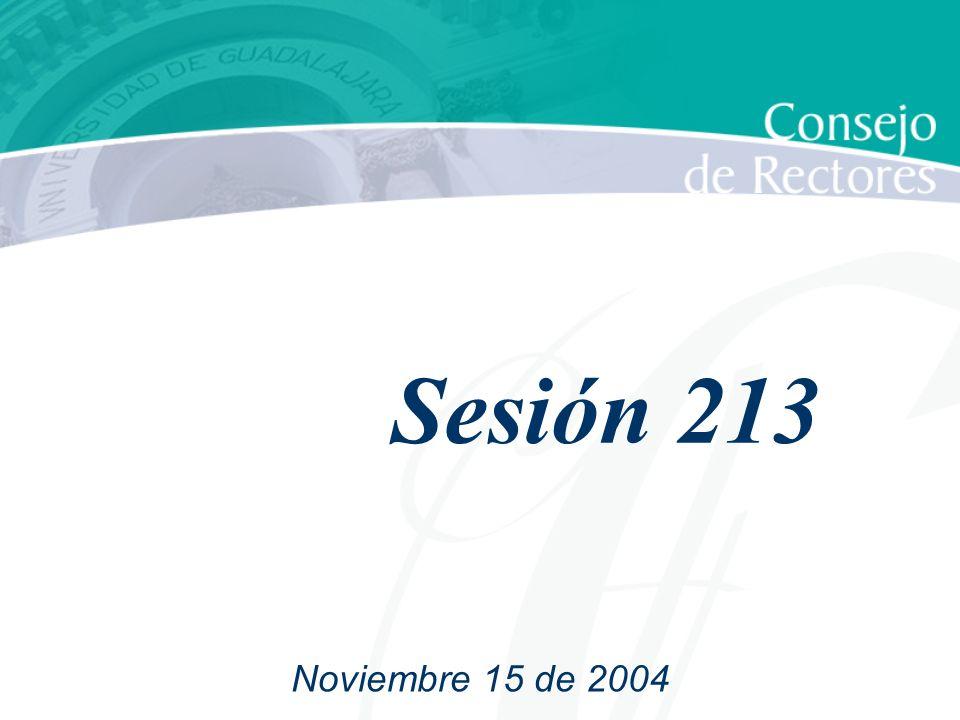 Sesión 213 Noviembre 15 de 2004