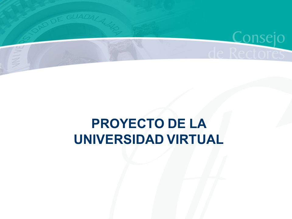 PROYECTO DE LA UNIVERSIDAD VIRTUAL