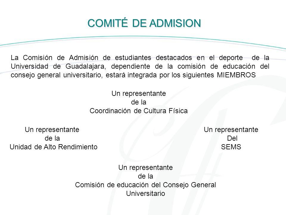 COMITÉ DE ADMISION