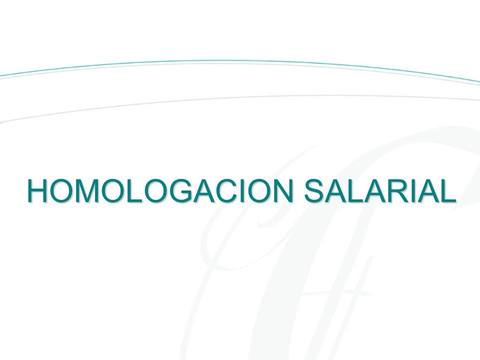 HOMOLOGACION SALARIAL