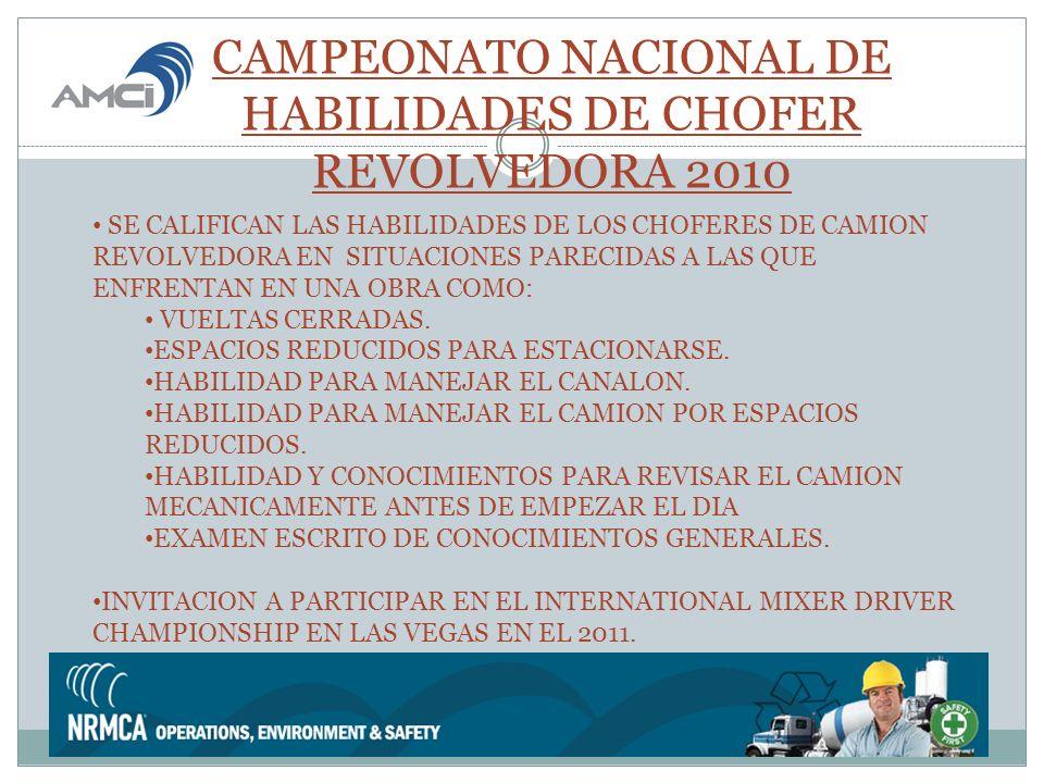 CAMPEONATO NACIONAL DE HABILIDADES DE CHOFER REVOLVEDORA 2010