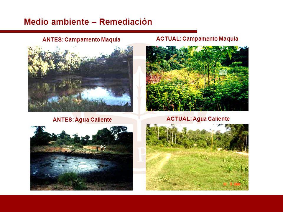 ANTES: Campamento Maquía ACTUAL: Campamento Maquía