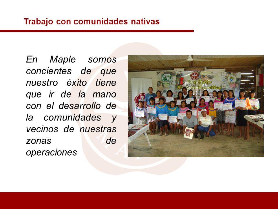 Trabajo con comunidades nativas