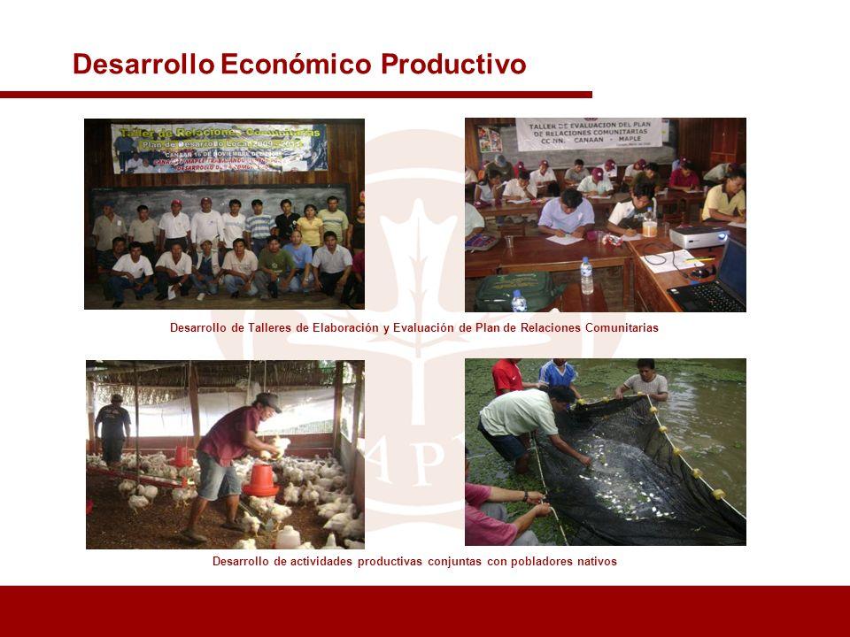 Desarrollo de actividades productivas conjuntas con pobladores nativos