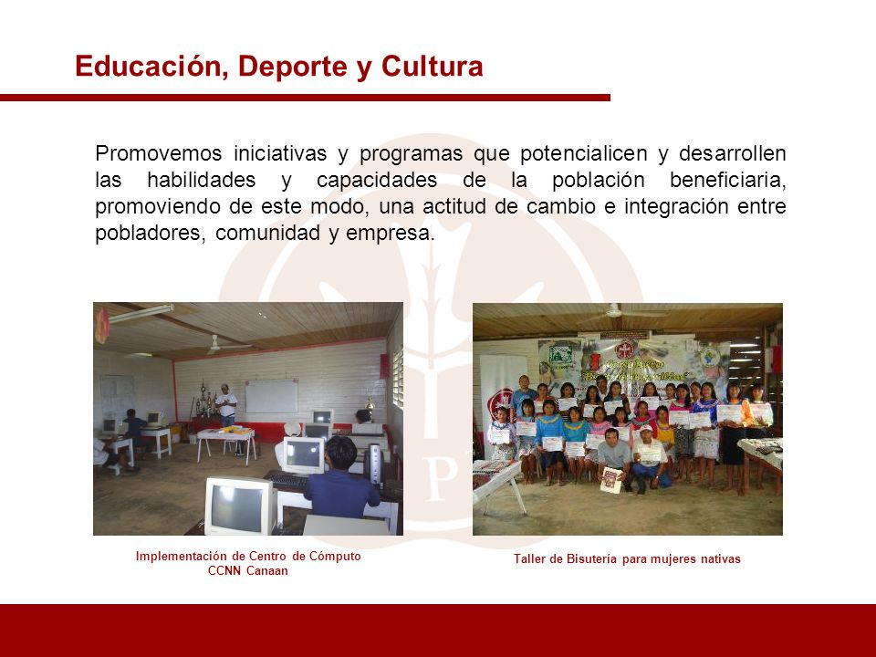 Educación, Deporte y Cultura