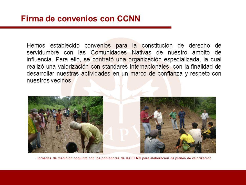 Firma de convenios con CCNN