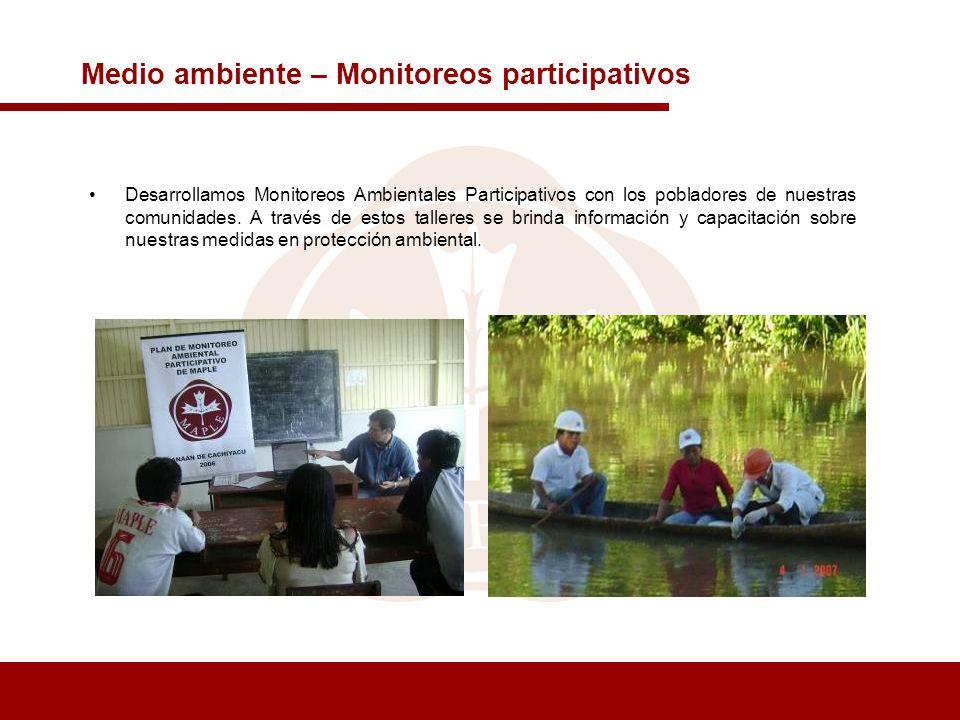 Medio ambiente – Monitoreos participativos