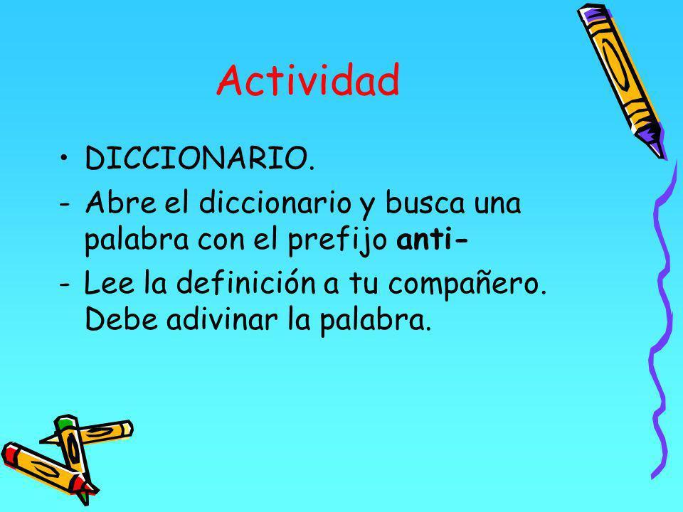 Actividad DICCIONARIO.