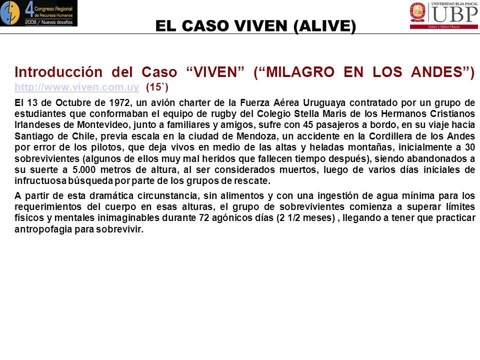 Introducción del Caso VIVEN ( MILAGRO EN LOS ANDES ) http://www
