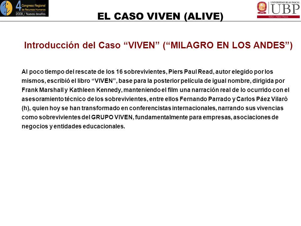 Introducción del Caso VIVEN ( MILAGRO EN LOS ANDES )