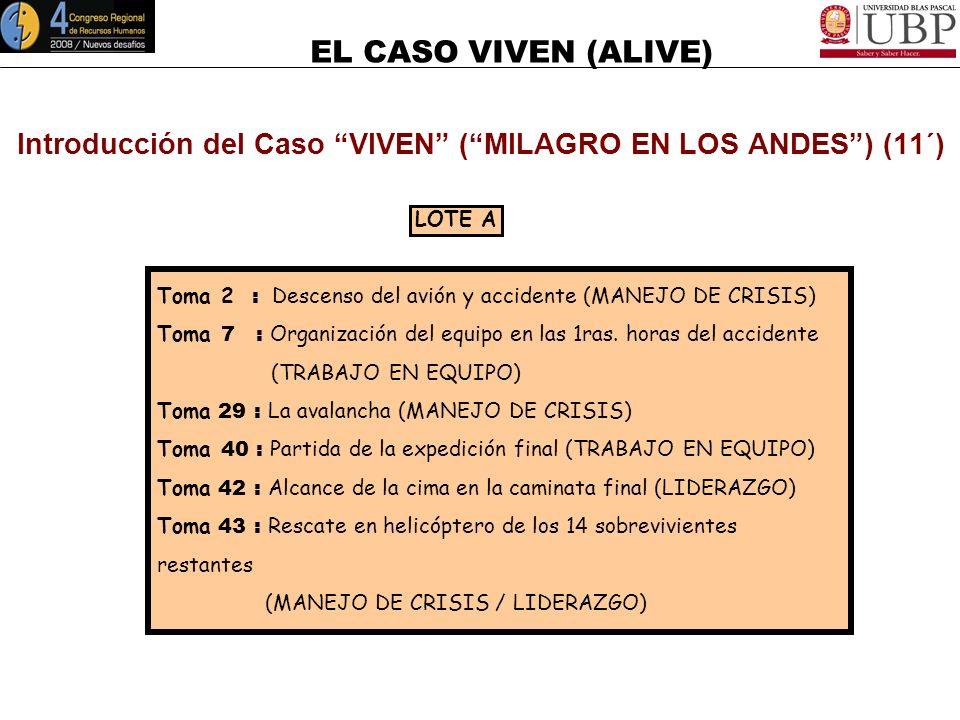 Introducción del Caso VIVEN ( MILAGRO EN LOS ANDES ) (11´)