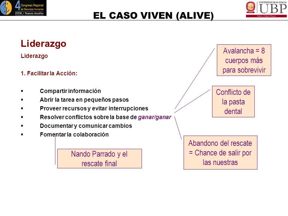 Liderazgo Avalancha = 8 cuerpos más para sobrevivir