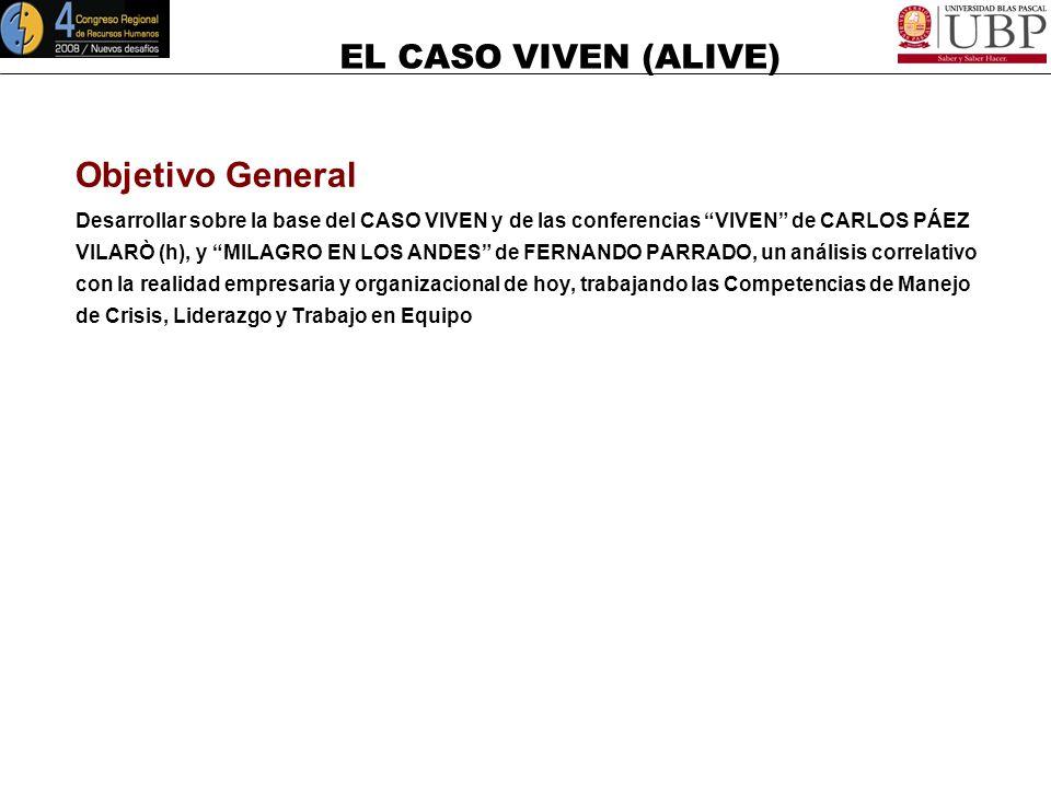Objetivo General Desarrollar sobre la base del CASO VIVEN y de las conferencias VIVEN de CARLOS PÁEZ.