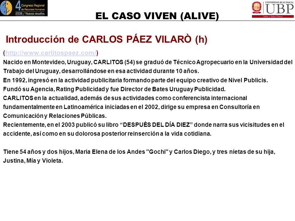 Introducción de CARLOS PÁEZ VILARÒ (h)