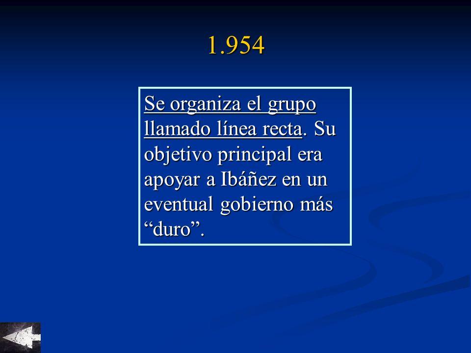 1.954 Se organiza el grupo llamado línea recta.