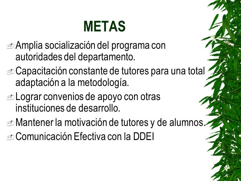 METAS Amplia socialización del programa con autoridades del departamento.