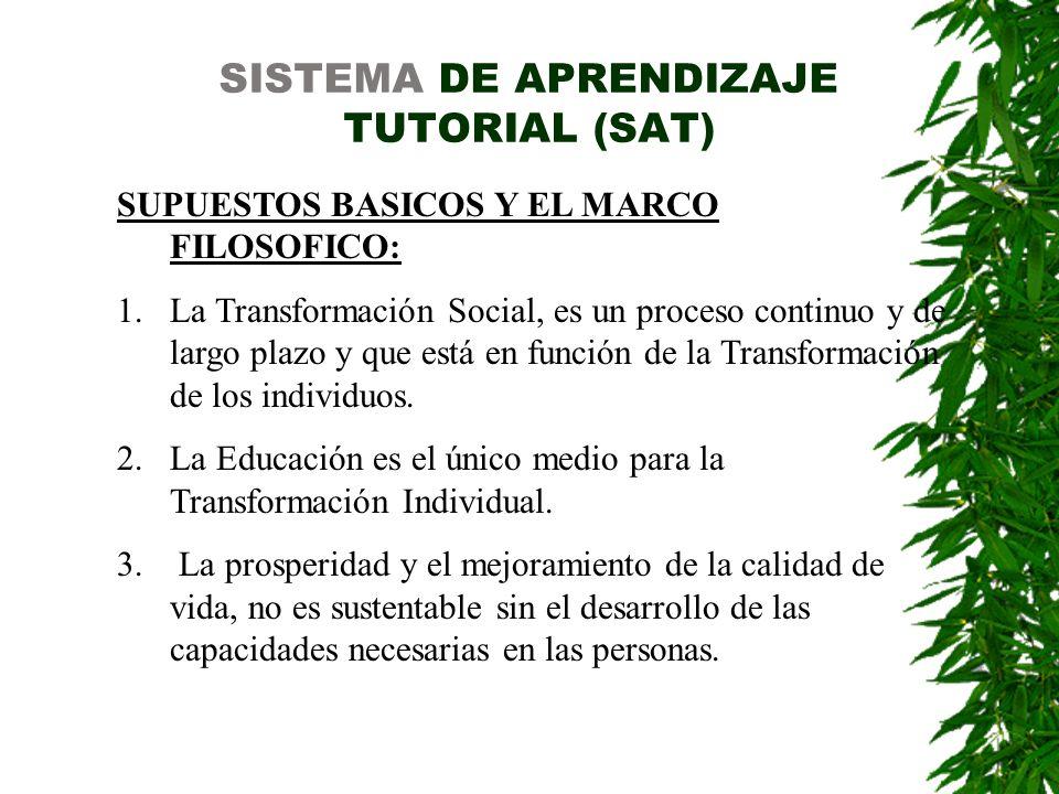 SISTEMA DE APRENDIZAJE TUTORIAL (SAT)