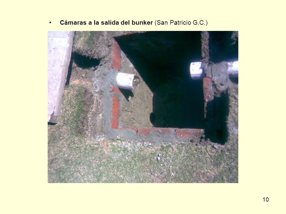 Cámaras a la salida del bunker (San Patricio G.C.)